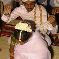 wed37 thali being put