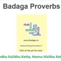 Badaga proverbs